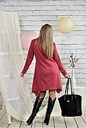 Женское платье свободного кроя 0433 цвет фрез размер 42-74 / батальное, фото 4