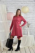 Женское платье свободного кроя 0433 цвет фрез размер 42-74 / батальное, фото 3