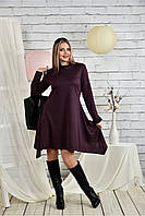 Женское платье свободного кроя 0433 цвет слива размер 42-74 / батальное