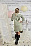 Женское платье с рюшами 0432 шалфей размер 42-74, фото 4