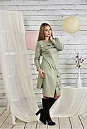 Женское платье с рюшами 0432 шалфей размер 42-74, фото 2