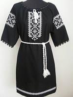 Женское вышитое платье  Марийка  для полных  размера  42,  44, 46, 48, 50, 52, 54, 56 из льна