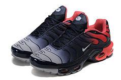Мужские кроссовки Nike Air Max Plus Tn Black Red топ реплика