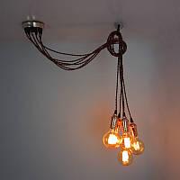 Подвесной светильник  люстра  [ LOFT Bunch - 6 Lamp Edisons ] (сделай сам)