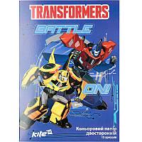 TF17-250 Цветная бумага двустор. (15лист/15цвет) А4 KITE 2017 Transformers 250, фото 1