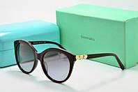 Солнцезащитные очки круглые Tiffany Go черные