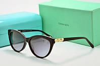 Солнцезащитные очки овальные Tiffany Go черные