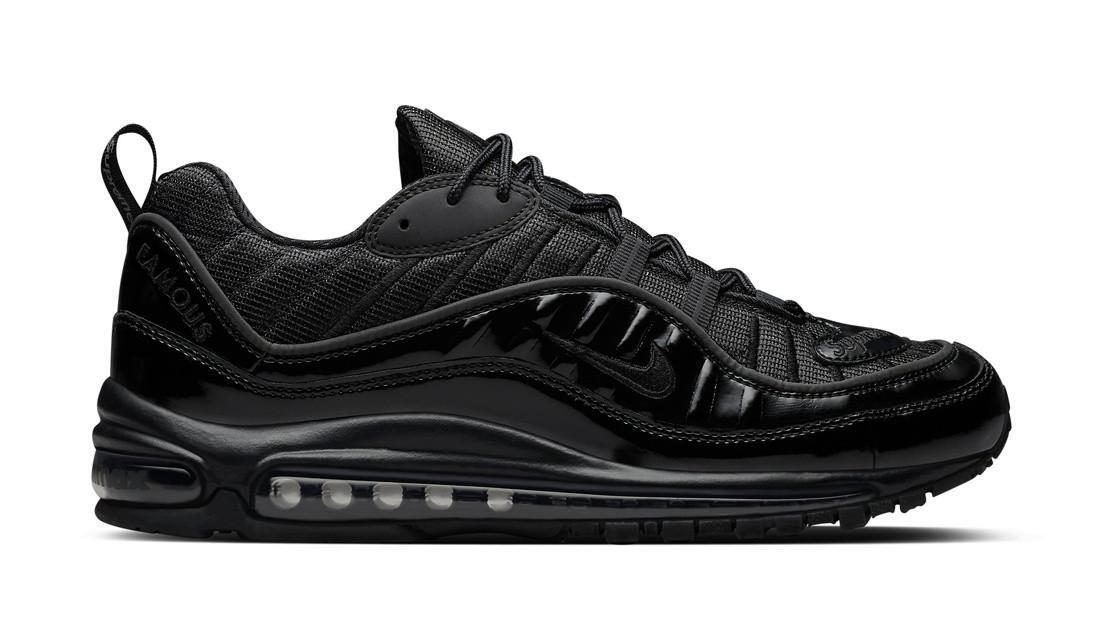2218f5d7 Мужские кроссовки Nike Air Max 98 x Supreme Black черные топ реплика -  Интернет-магазин