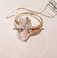 Кольцо серебряное с камнем Аделина