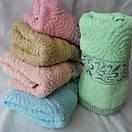 Недорогое махровое полотенце. Размер: 1,0 x 0,5 , фото 2