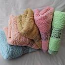 Недорогое махровое полотенце. Размер: 1,0 x 0,5 , фото 3