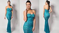 Вечернее платье из гипюра с красивым лифом
