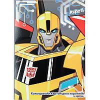 Картон цветной (двусторонний) KITE 2017 Transformers 255