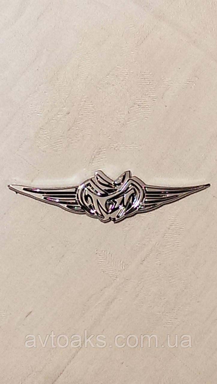 Наклейка крылья, объемная, хром
