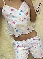 """Хлопковый женский комплект-пижама для сна """"Милашка"""" майка и топ с принтом (3 цвета)"""