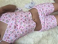 """Хлопковый женский комплект-пижама для сна """"Милашка+"""" с маской в комплекте (3 цвета)"""