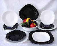 Столовый сервиз на 19 предметов Luminarc Carine Noir et Blanc