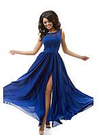 Длинное воздушное платье 46