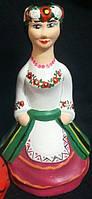 """Колокольчик из керамики """"Козачка"""" ручной росписи, выс. 18 см., 35 гр."""