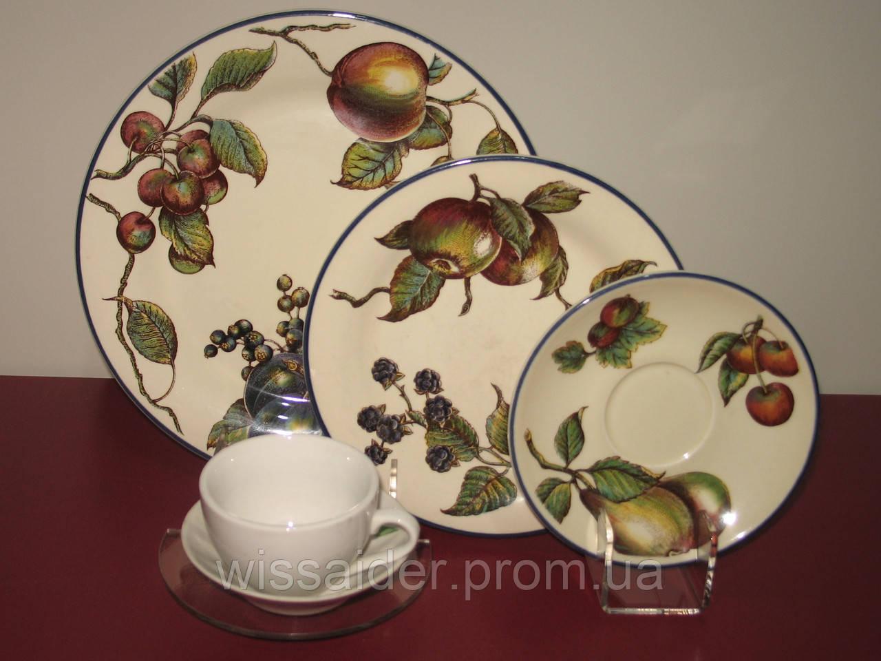 "Подставка для 3х тарелок и чашки ""Двойная"" (акрил 3мм)"