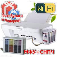 Полное решение: МФУ CANON MG2950 + СНПЧ сканер копир  Система Непрерывной подачи чернил + Фотобумага в подарок