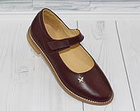 Туфли - балетки для девочки. Натуральная кожа 0088