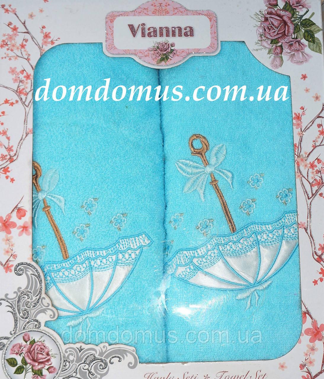 """Подарочный набор махровых полотенец 3D """"Зонтик"""" Vianna, Турция"""