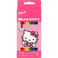 HK17-054 Карандаши цветные двухсторонние (12 шт) KITE 2017 Hello Kitty 054