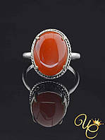 Кольцо Сердолик (серебро) «Необычайное XIII»