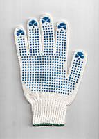 Перчатки трикотажные с ПВХ-точкой 7 класс (3 нитки)