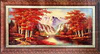 Набор для творчества со стразами 5D Осень в горах Артикул: 198542 Размер: 155*70