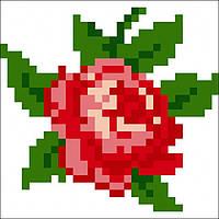 Набор для вышивания алмазной картины (наклейка) Роза Артикул: 198548 Размер: 9*9