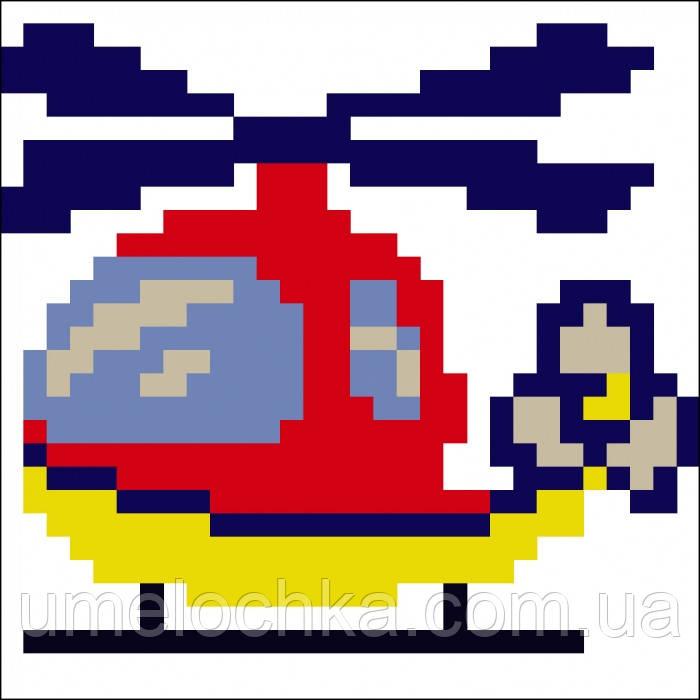 Набор для вышивания алмазной картины (наклейка) Вертолет Артикул: 198553 Размер: 9*9 см