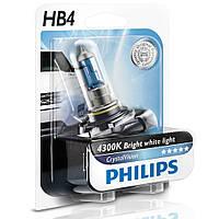 Автолампа Philips HB4 Cristal Vision 12V 55W P22d Xenon Effect 9006CVB1