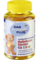 Витамины  для детей DAS gesunde PLUS Multivitamin-Bärchen Fruchtgummis, 60 St
