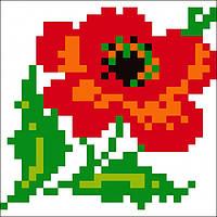 Набор для изготовления картины со стразами (наклейка) Мак Артикул: 198550 Размер: 9*9 см