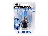 Автолампа Philips  HB4 Diamond Vision 12V 55W P22d 9006DVB1