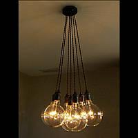 Подвесной светильник  люстра  [ LOFT Bunch - 7 Lamp Edisons ] (сделай сам)