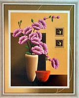Картина со стразами 5D Цветы и керамика Размер: 52*63 см (8654) Код 198440