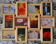 Фоторамка на 12 фотографий, цвет дерево беж., фото 1