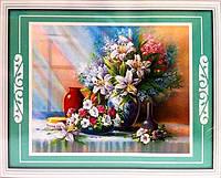 Набор для творчества со стразами 5D Букет белых лилий Артикул: 198559 Размер: 75*60 см
