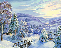 Набор для творчества со стразами Зима Артикул: 198653 Размер: 50*42 см