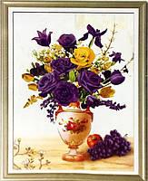 Набор для творчества со стразами 5D Розы и виноград Артикул: 198532 Размер: 45*60 см