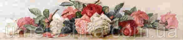 Набор для творчества со стразами Гирлянда из белых и красных роз Артикул: 198608 Размер: 15*70