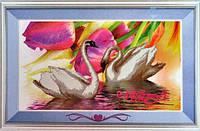 Набор для творчества со стразами 5D Лебеди и тюльпаны Артикул: 198441 Размер: 91*52 см