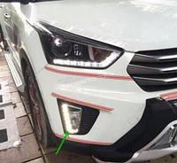 DRL штатные дневные ходовые огни LED- DRL для Hyundai Creta (V3) ПТФ