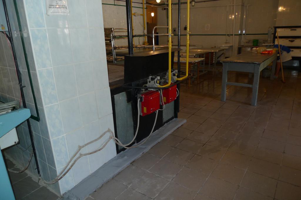 Поставка горелки газовой Riello в столовой института