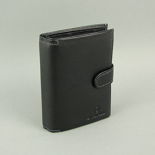 Кошелек мужской кожаный черный документы B. Cavalli