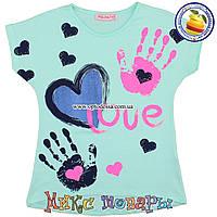Летние футболки для девочек от 2 до 5 лет (5086-2)