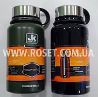 Термос с двойными стенками - Jiakang Vacuum Bottle 610 мл (Черный, Олива)